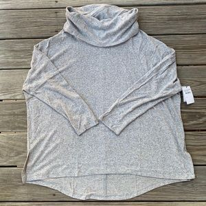 Grey Cowl Neck Sweater